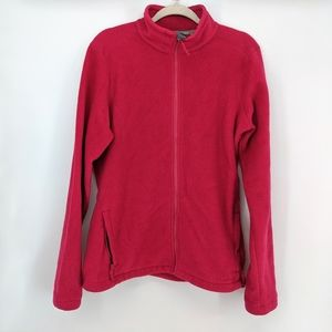 Cabela's Pink Fleece Sweater Jacket Full Zip Large